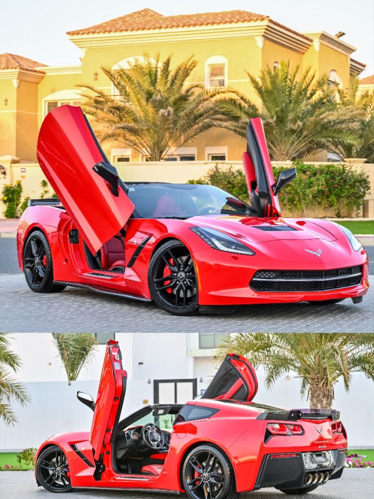 This Corvette Is Finished Off Beautifully With A Red Exterior And