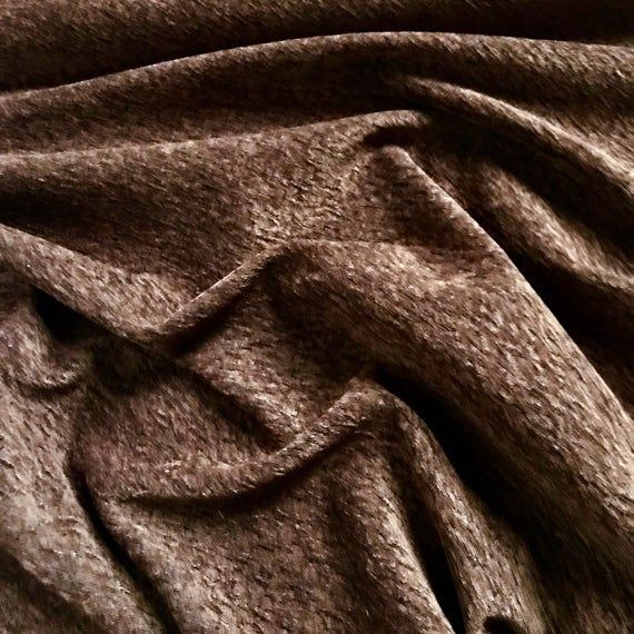 Mocha Brown Crushed Velvet Upholstery Fabric 54 #velvetupholsteryfabric