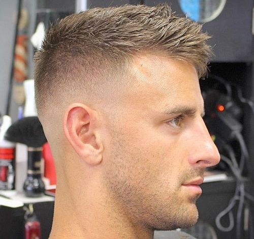 Haircuts For Balding Men High Bald Fade With Crew Cut
