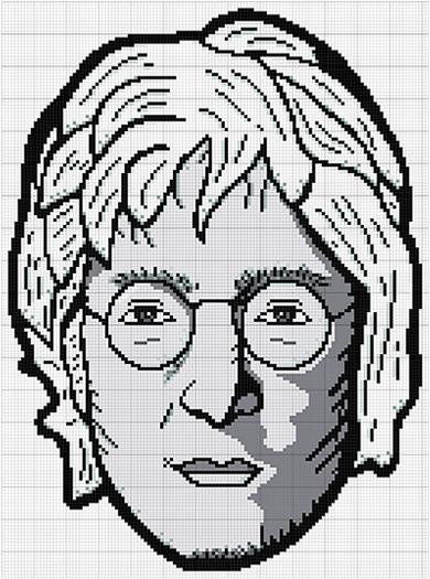 John Lennon Cross Stitch Pattern Portrait Black And Gray Etsy Cross Stitch Patterns Stitch Patterns Cross Stitch