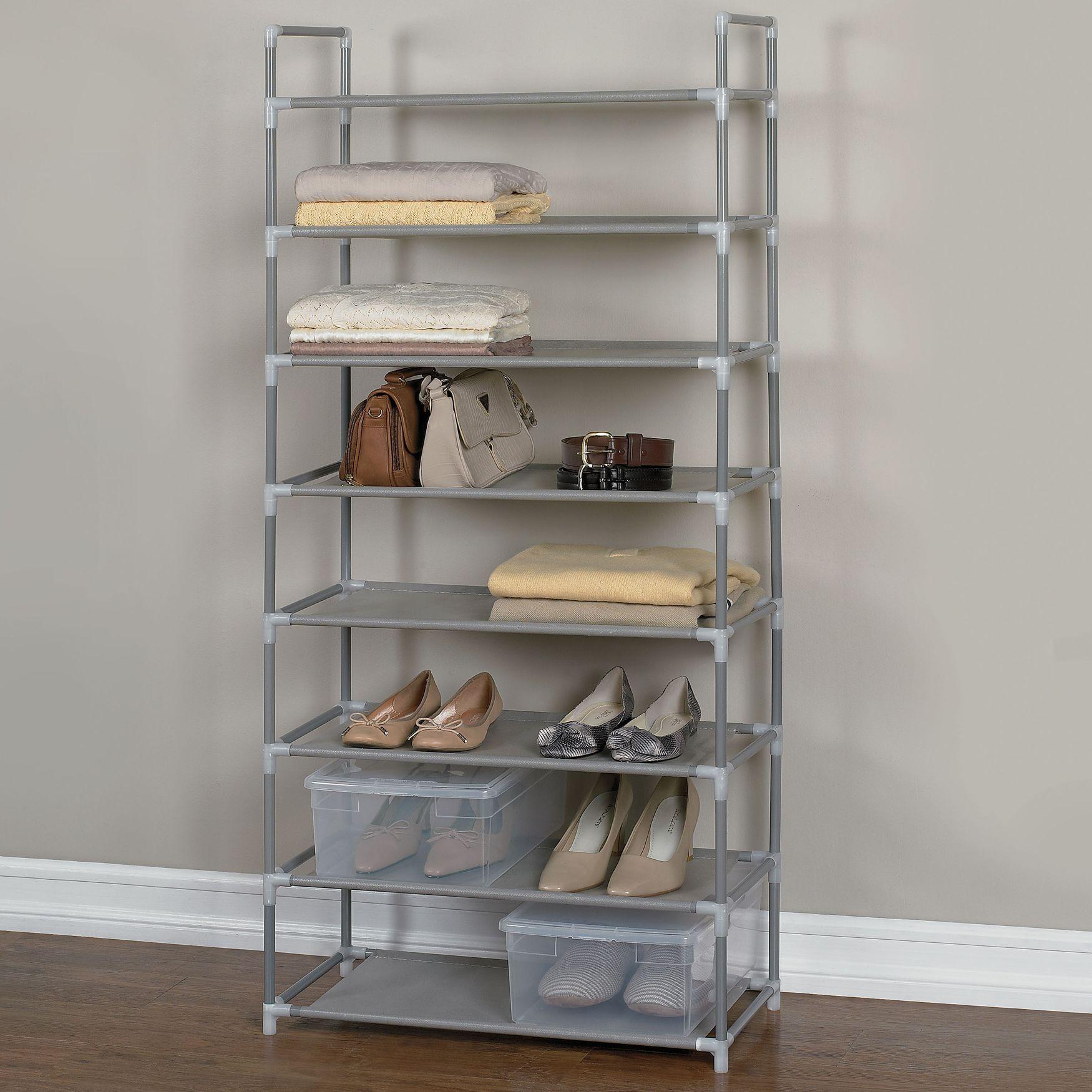 storage rack shoe 8shelf rack plus size closet u0026 space savers onestopplus