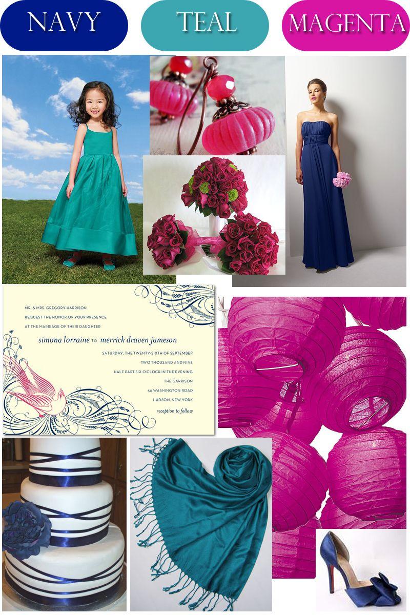 Wedding Color Palette: Navy, Teal, & Magenta - Wedding Bl ...