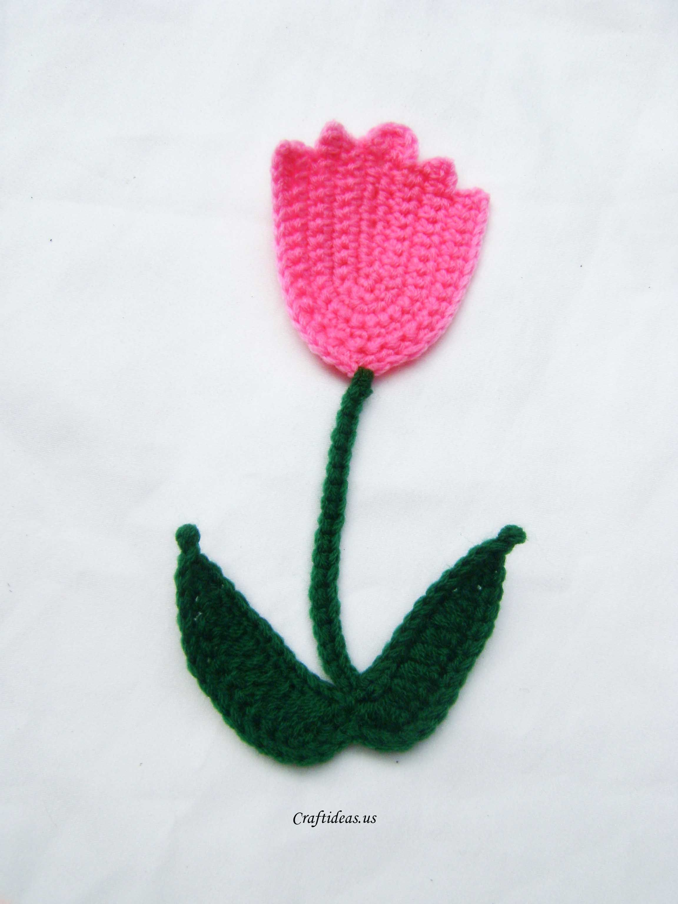 crochet tulip flowers   flores   Pinterest   Flores, Flores en ...