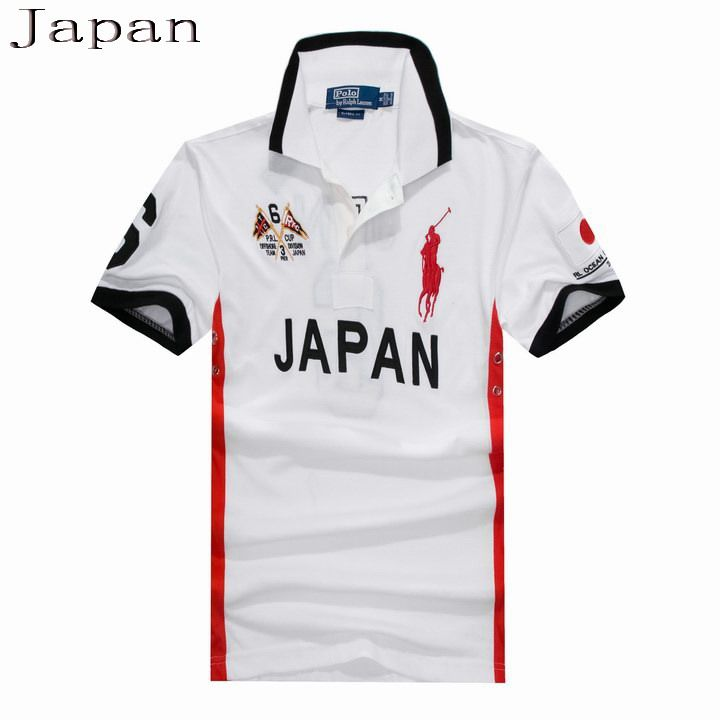 dfdc447d Ralph Lauren Men Flag Big Pony Polo Short Sleeve Japan White Mens Workout  Tank Tops,