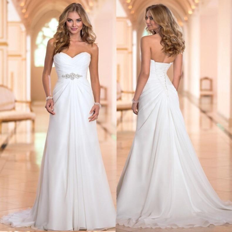 efc44d41334 Summer Beach Chiffon Dresses for Wedding Sexy Strapless Boho Custom Made  Bridal  fashion  clothing  shoes  accessories  weddingformaloccasion ...