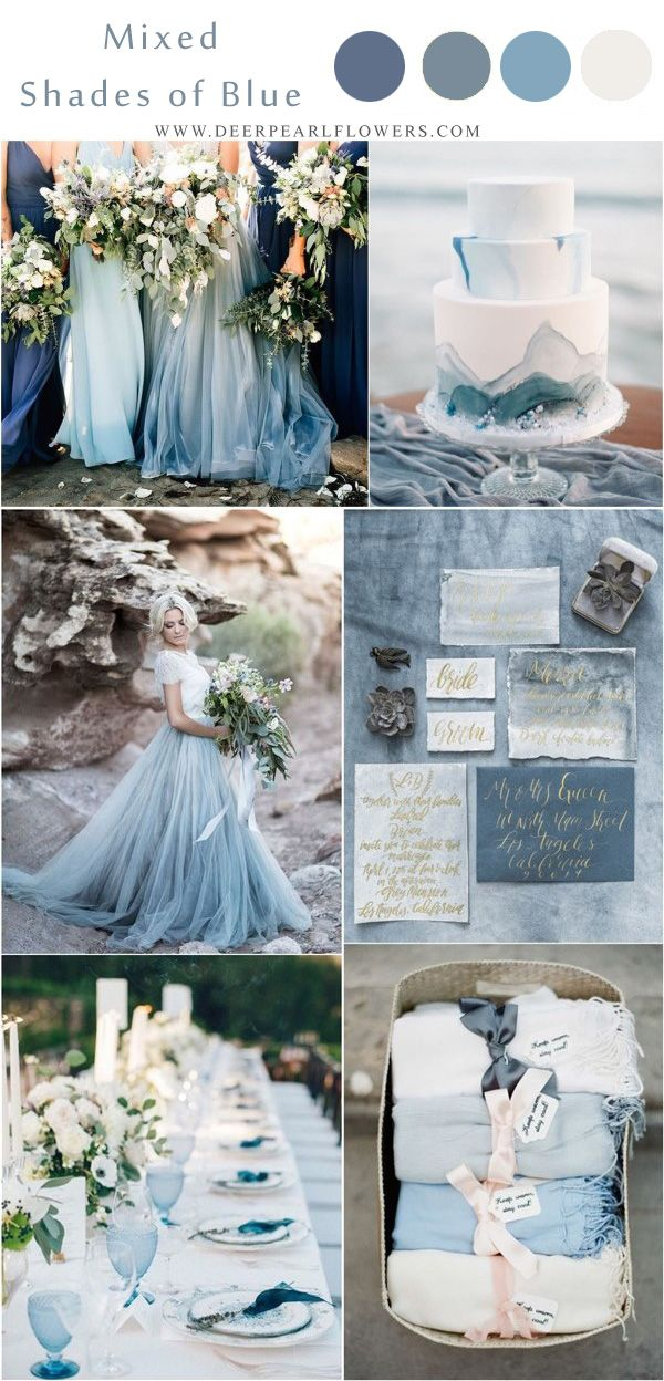 Top 10 Blue Wedding Color Palettes We Love for 2019