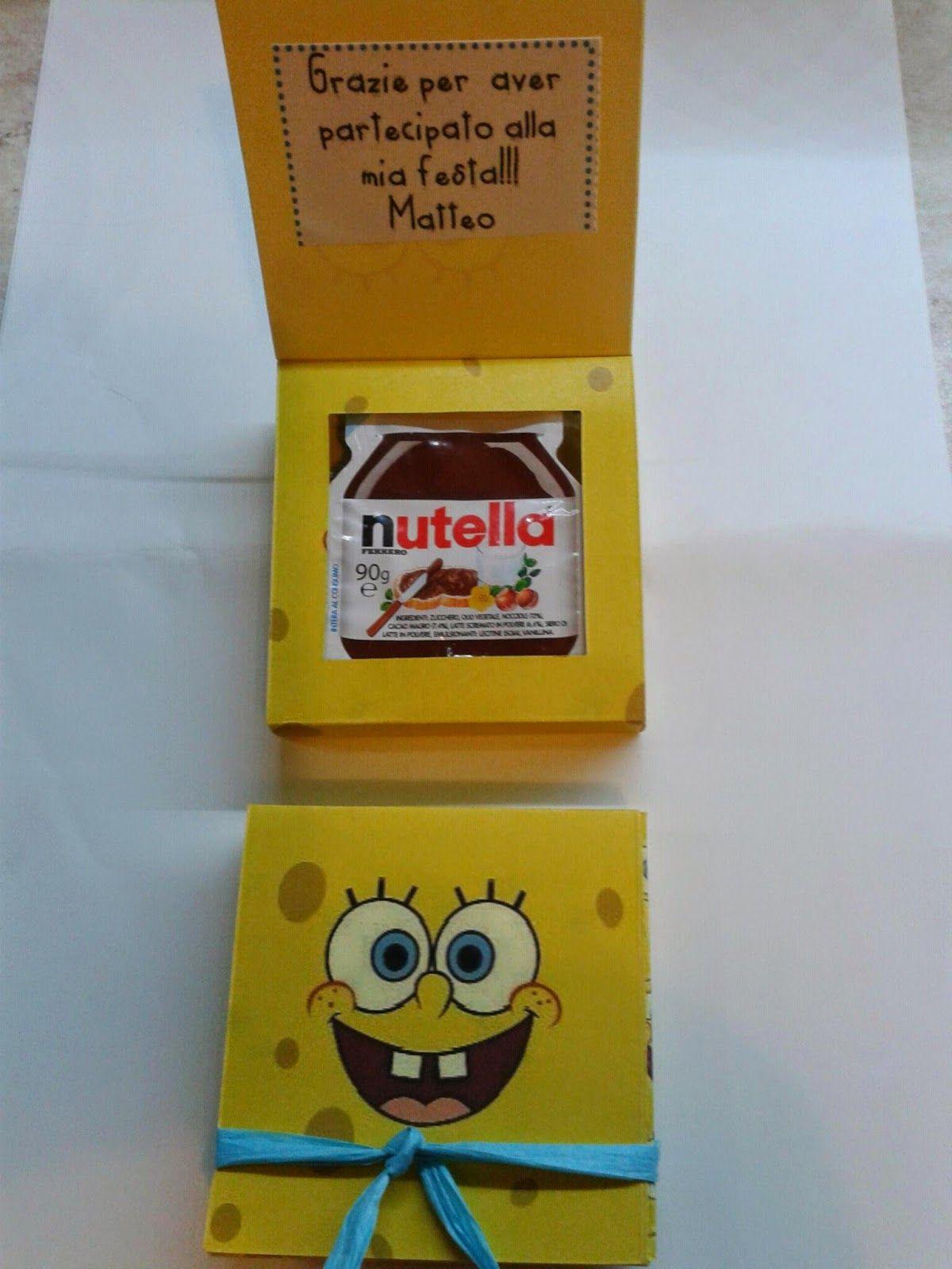 386ab0042c Scatoline di Spongebob fatte a mano con la nutella all'interno come  regalino di ringraziamento