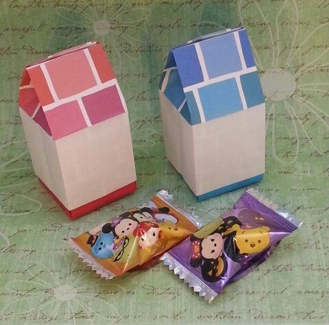 家型の箱 House Box 折り紙 おりがみ 家