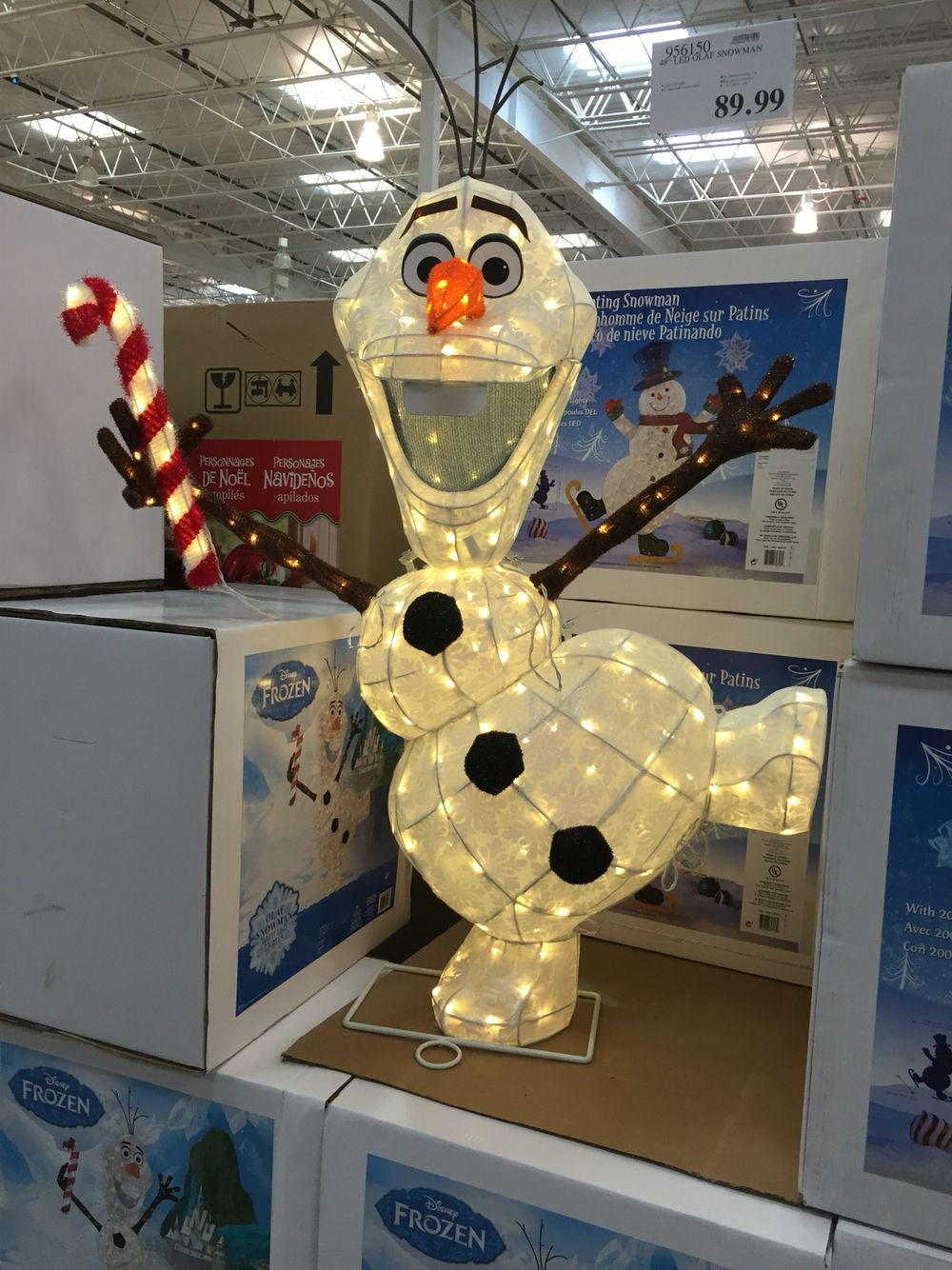 Olaf Xmas Dec at Costco   Christmas ideas   Pinterest