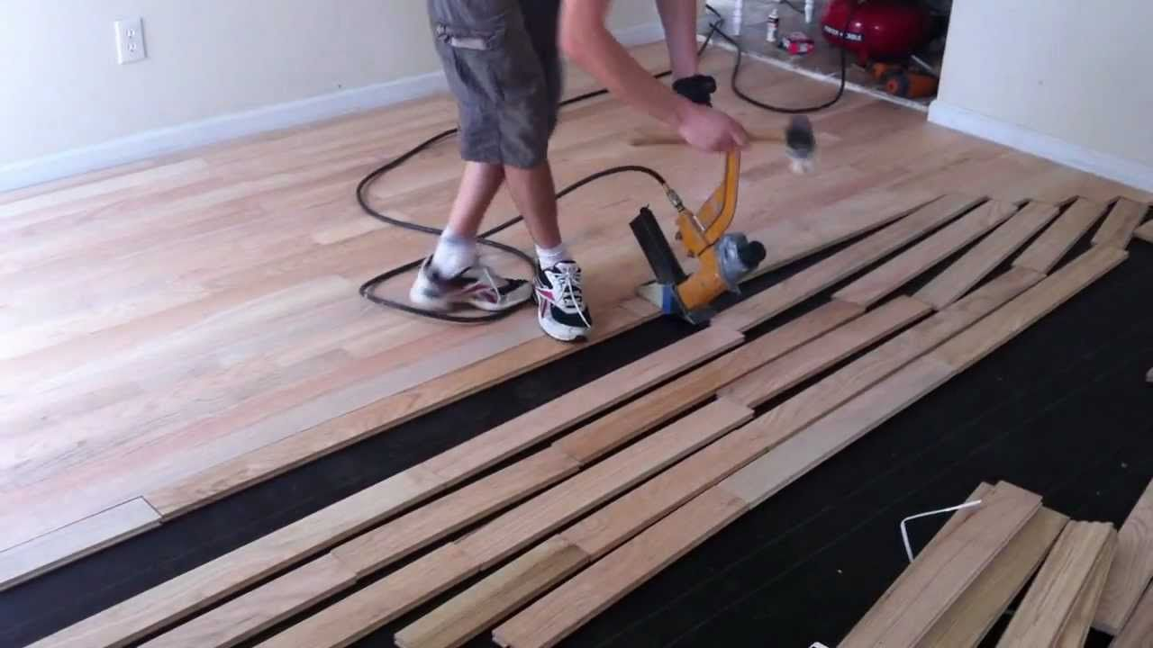 How To Install Nail Down Unfinished Hardwood Floors Wood Floor