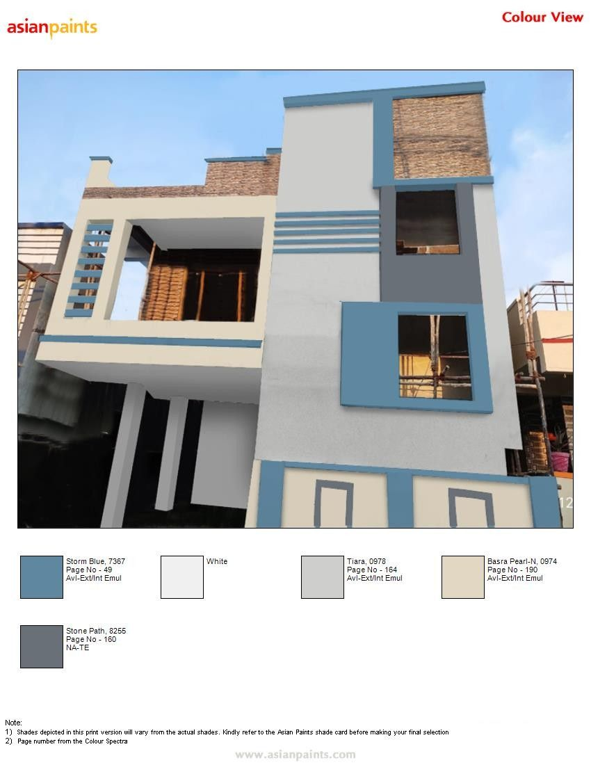 Pin By Lokesh Loki On Top 200 Asian Paints Color Views Exterior Paint Colors For House Small House Elevation Design Exterior Color Combinations