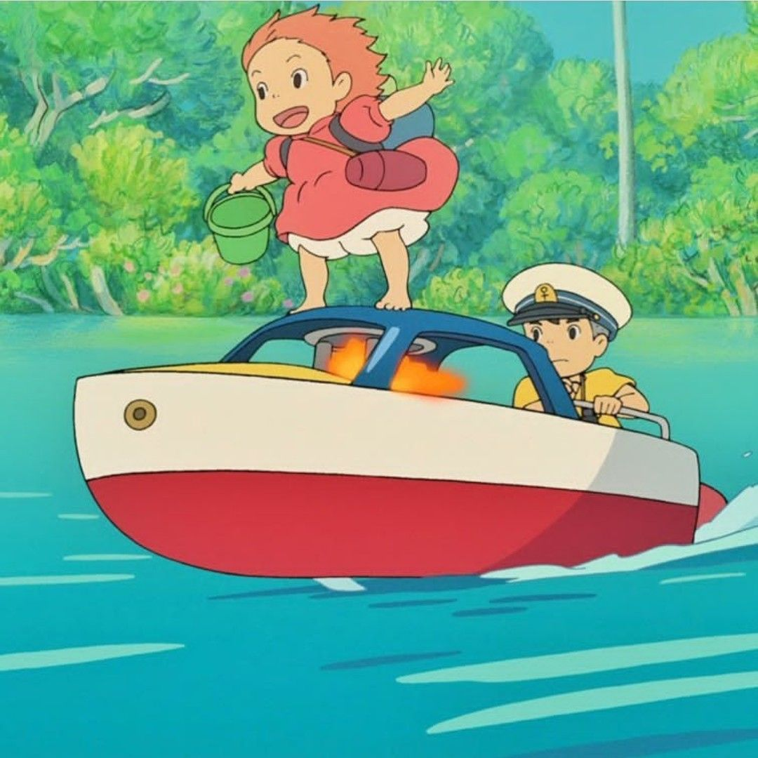 Ponyo so cute 😭💙💙. Ponyo, Anime, Character