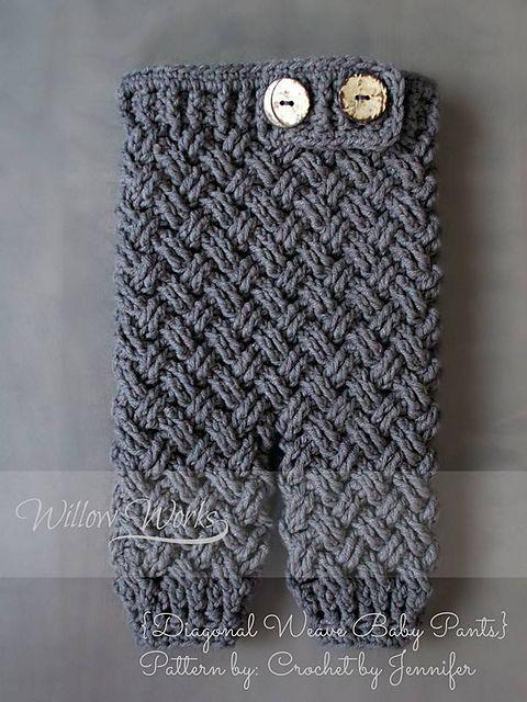 Ravelry: Diagonal Weave Baby Pants pattern by Crochet by Jennifer ...