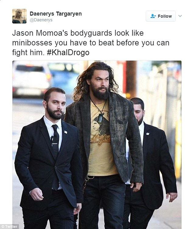 Twitter goes crazy over Jason Momoa TOWERING over his
