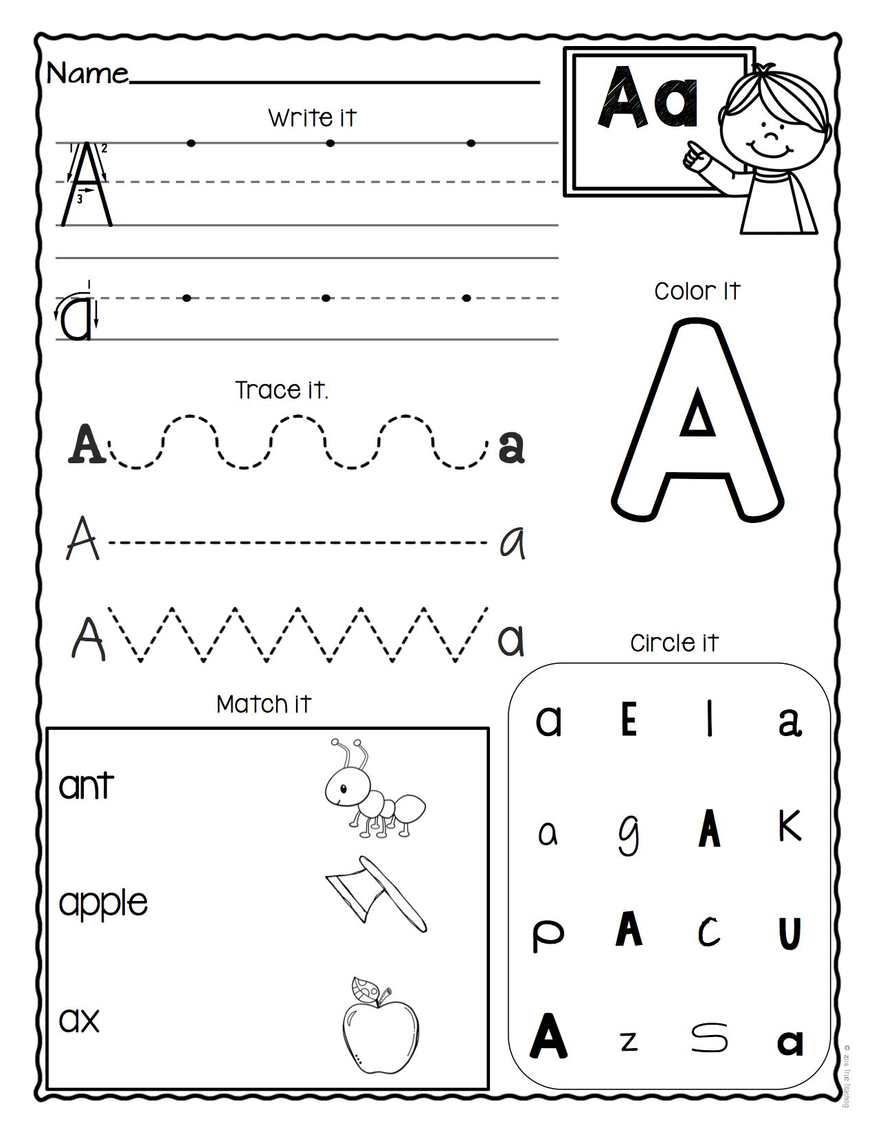 a z letter worksheets set 3 educational finds teaching treasures letter worksheets. Black Bedroom Furniture Sets. Home Design Ideas