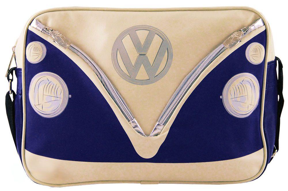 Brisa Licensed Volkswagen VW Bus Blue & Cream Messenger Bag Cross-Body Purse #Brisa #MessengerBagCrossBody