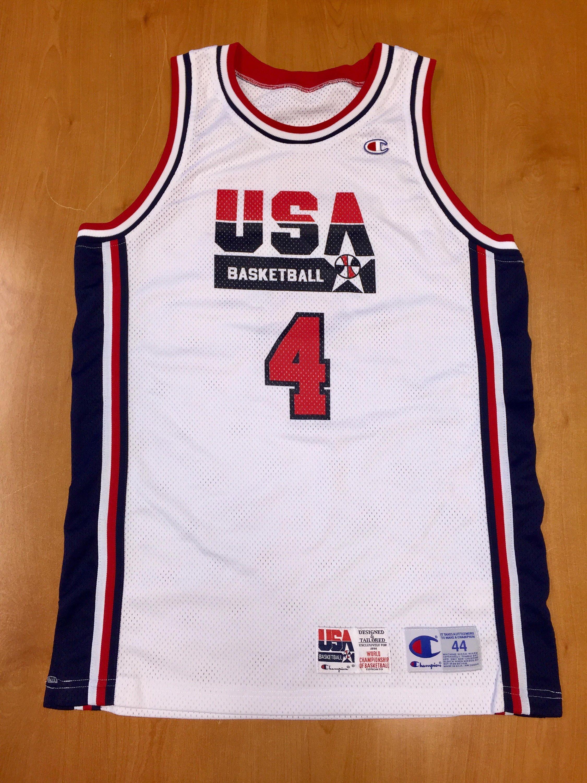 66b71b4f3391 Vintage 1994 Joe Dumars Dream Team USA Authentic Champion Jersey Size 44  pro cut michael jordan penny hardaway charles barkley pistons nba by ...