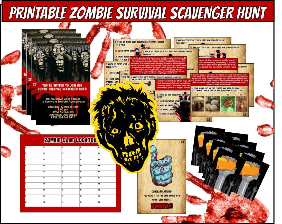 Zombie Apocalypse Game- Are you a survivor? How well will your ...