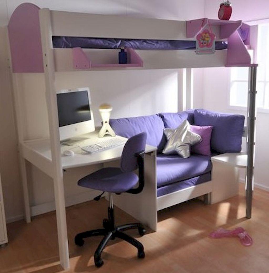 Cute loft bed ideas   cute loft beds college dorm room design ideas for girl   Bett