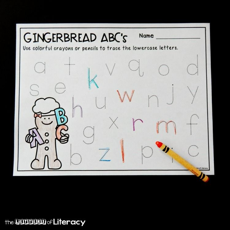 Letter Tracing Gingerbread Printables for Pre-K and ...
