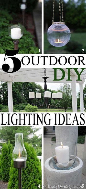 Outdoor DIY Lighting Ideas | InMyOwnStyle