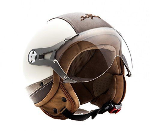 helmet Motorcycle goggles motorbike eco leather vintage scooter Oldschool pilot