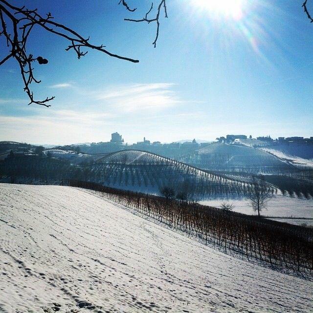 Prima neve della stagione in Langa #piemonte