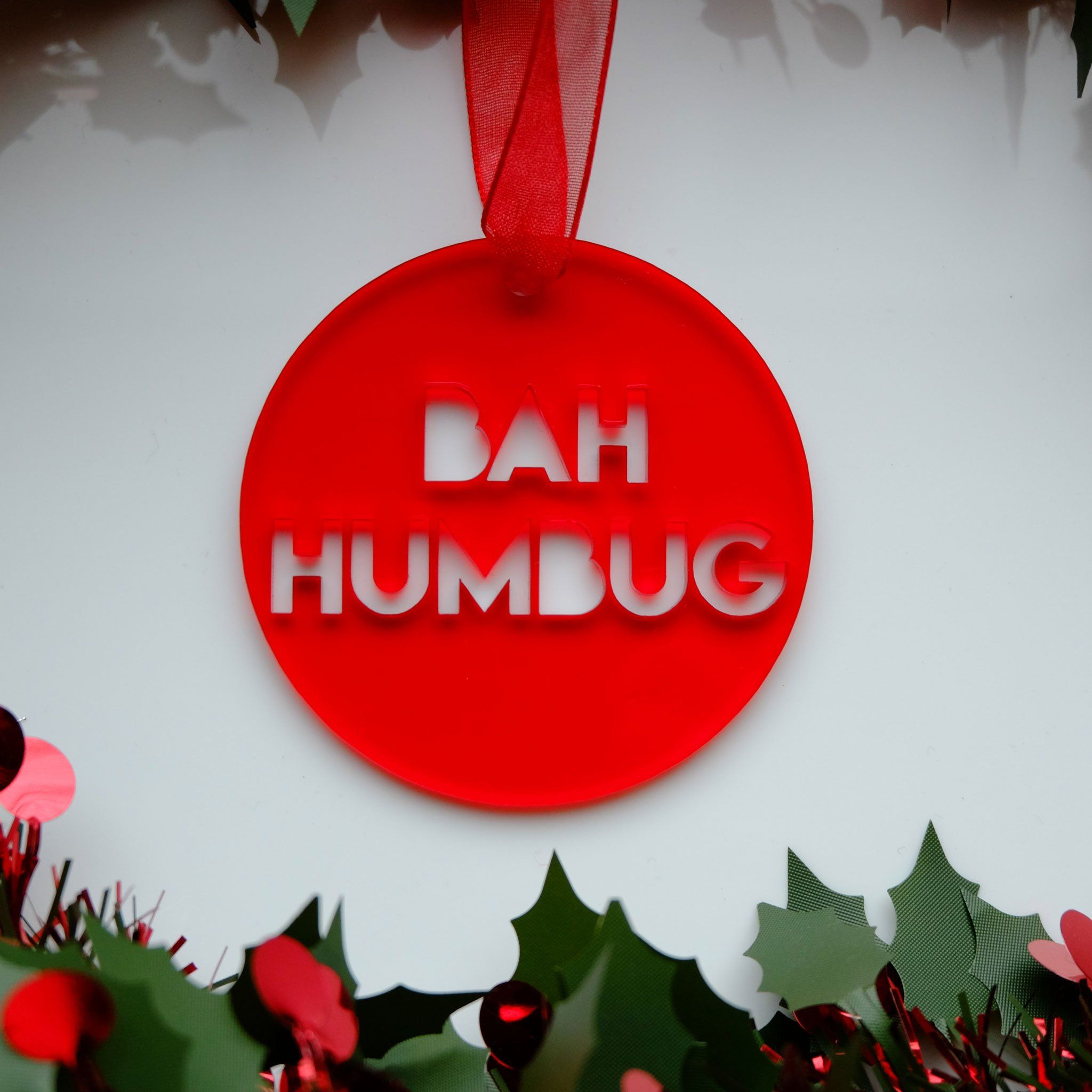 Bah Humbug Christmas Decoration Scrooge Movie Quote