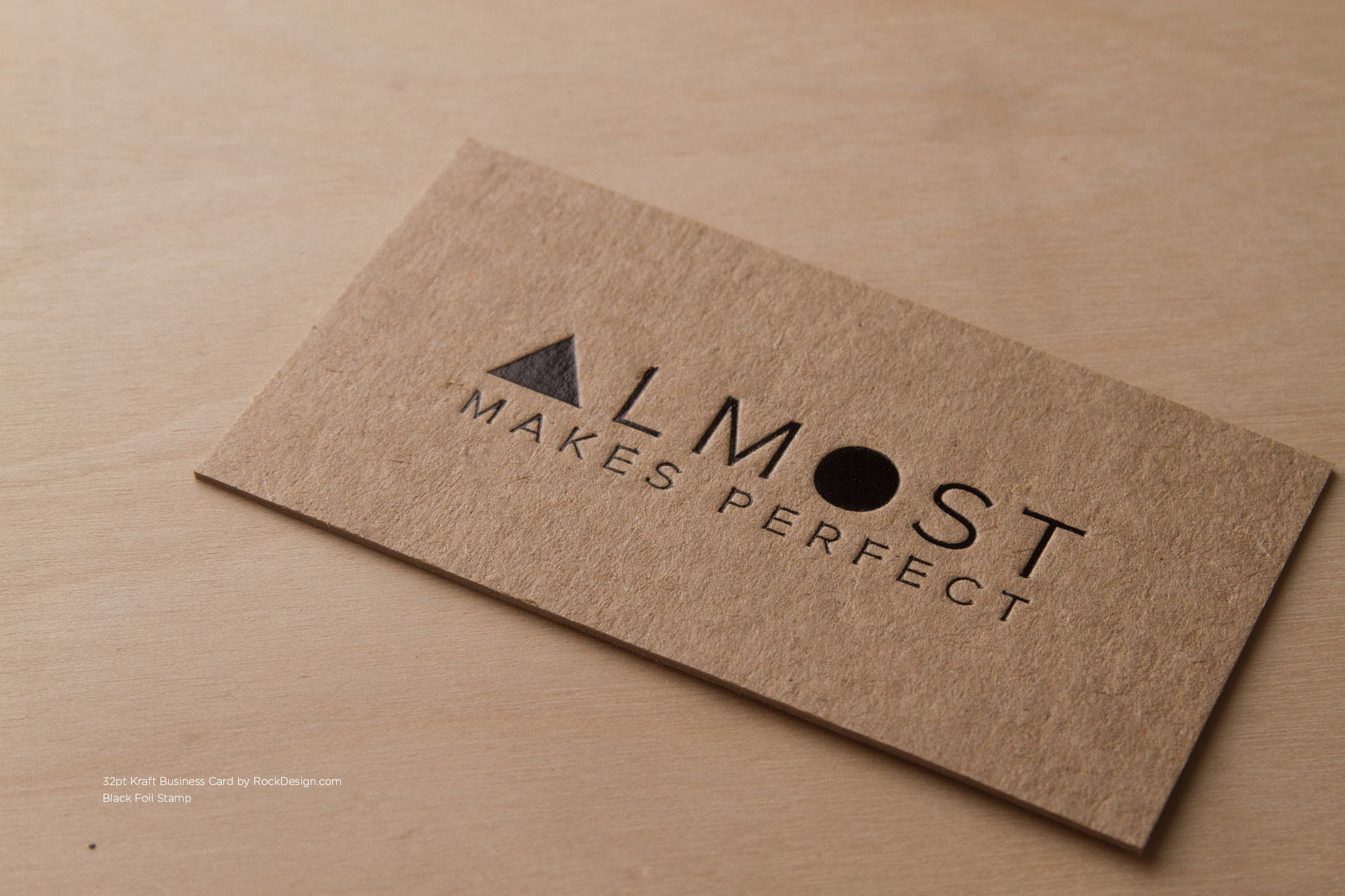 RockDesign.com | High End Business Cards | Brown Kraft Business Card ...