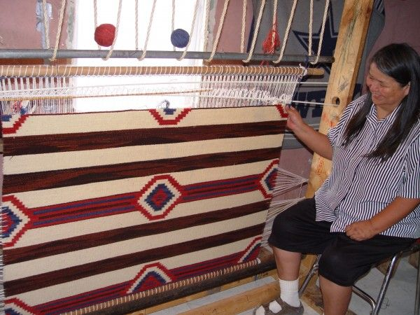 Navajo Weaving Use For Rugs Symmerical