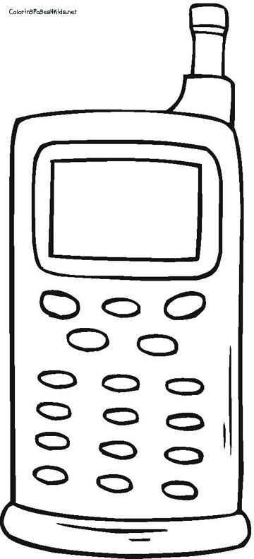 printable Cell Phones Coloring Pages | themes | Pinterest | Phone