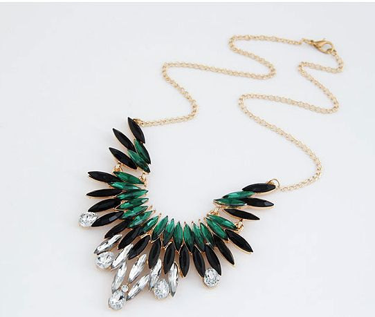Min order $9 (mix order) Fashion rhinestone big pendant choker necklace for women