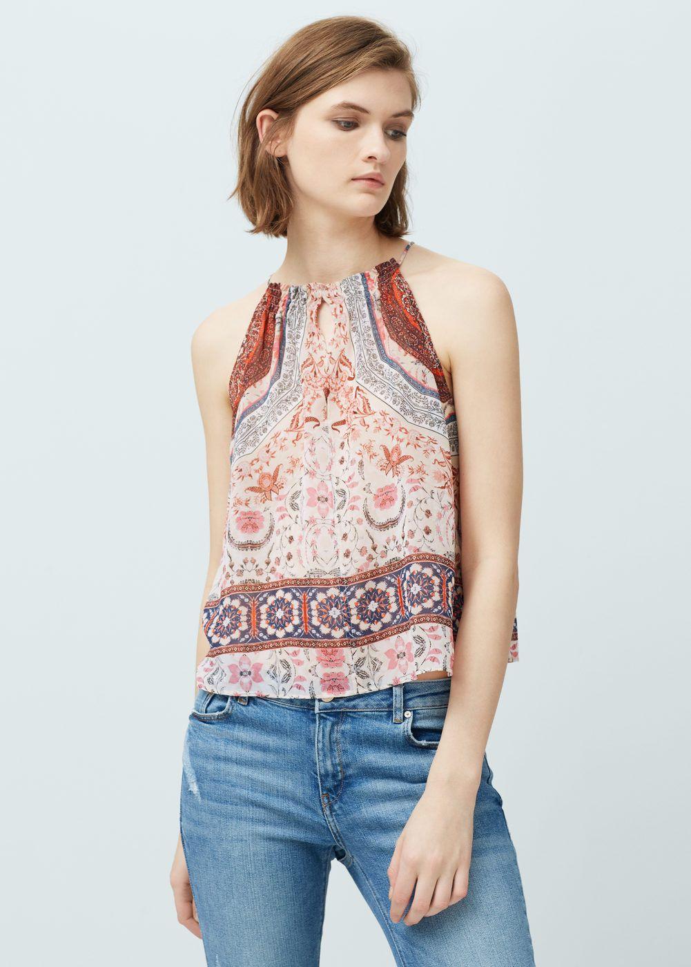 374203d9d82e Halter neck top - Women   Fashion   Camisas mujer, Camisas y Camisas ...