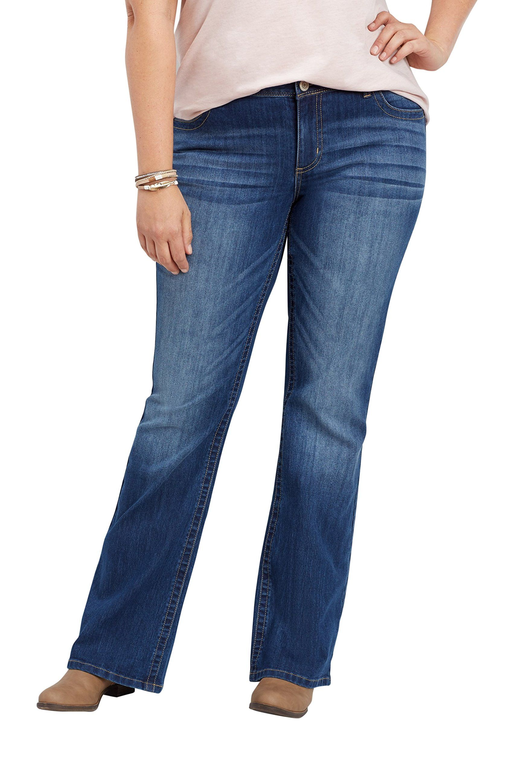 81fe7b41616 maurices Womens Plus Size Denimflex Medium Wash Bootcut Jean 18W Medium  Sandblast   See this great product. (This is an affiliate link)