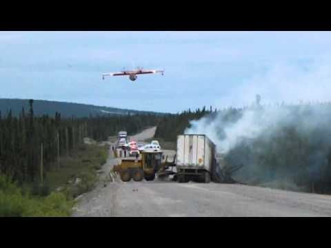 Water Bomber at Trans - Labrador Highway Accident
