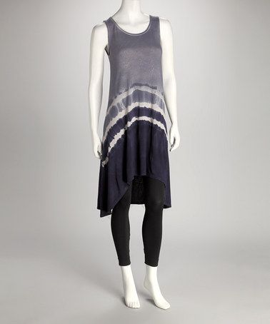 Pure Sage Blue Knit & Silver Tie-Dye Bamboo Tunic by Pure Sage & Krimson Klover