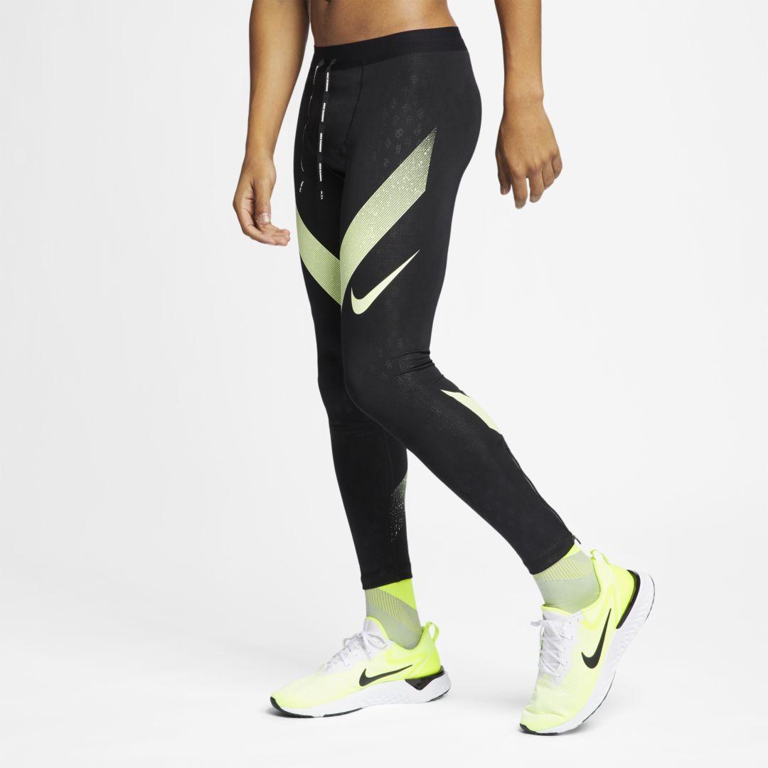 Nike Power Tech Men's Running Tights Size 2XL (Black)   Mens