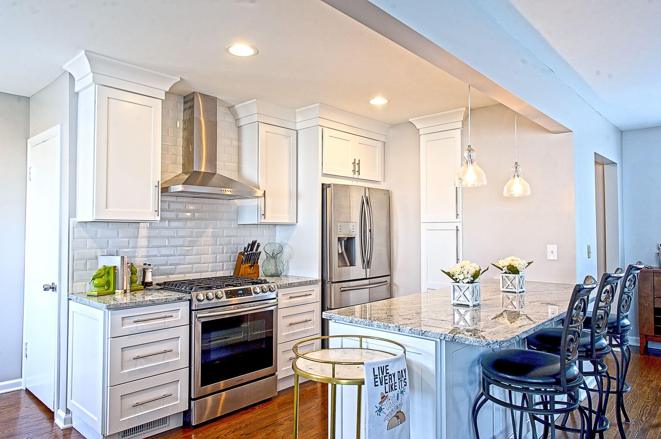 Kitchen remodel. White cabinets. Granite countertop. #classyetsassy ...