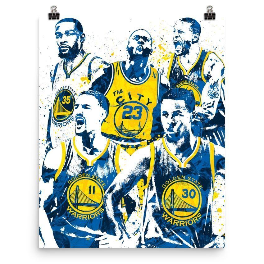 5b1a20827d5cb Golden State Warriors Big Four Poster   graffiti   Golden state ...