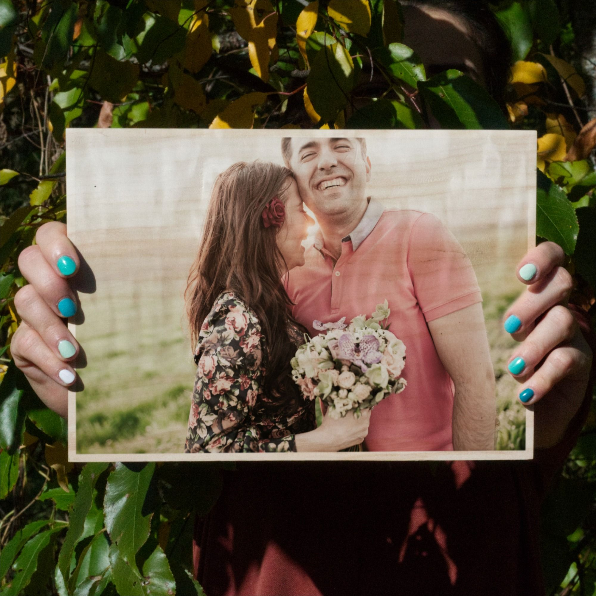 5th wedding anniversary gift for her ∙ photo on wood slice