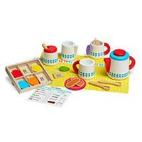 Melissa & Doug Wooden Steep and Serve Tea Play Set - 22-Piece