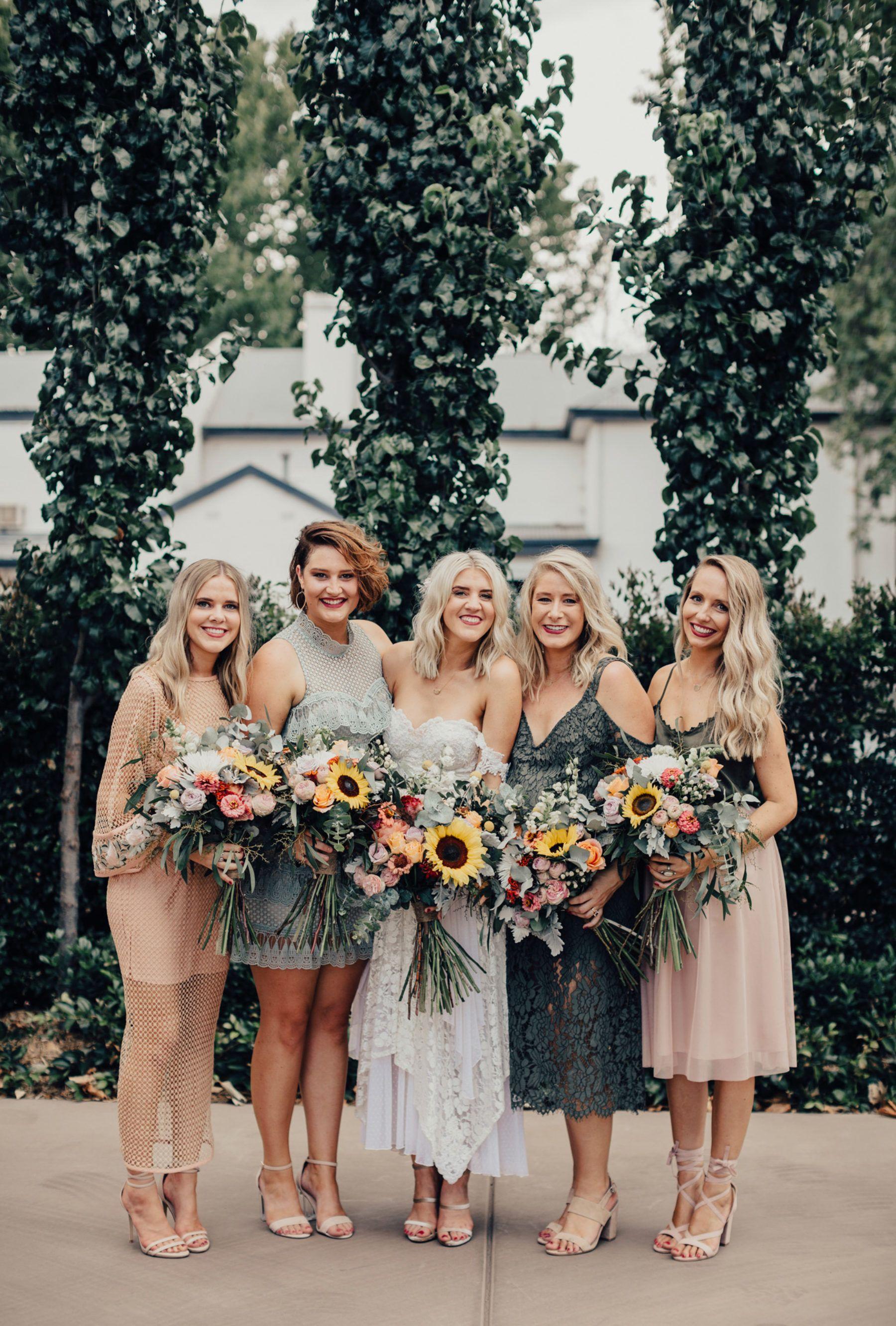 Rhys Ash S Wagga Wedding At Uneke Warehouse Bridesmaid Dress