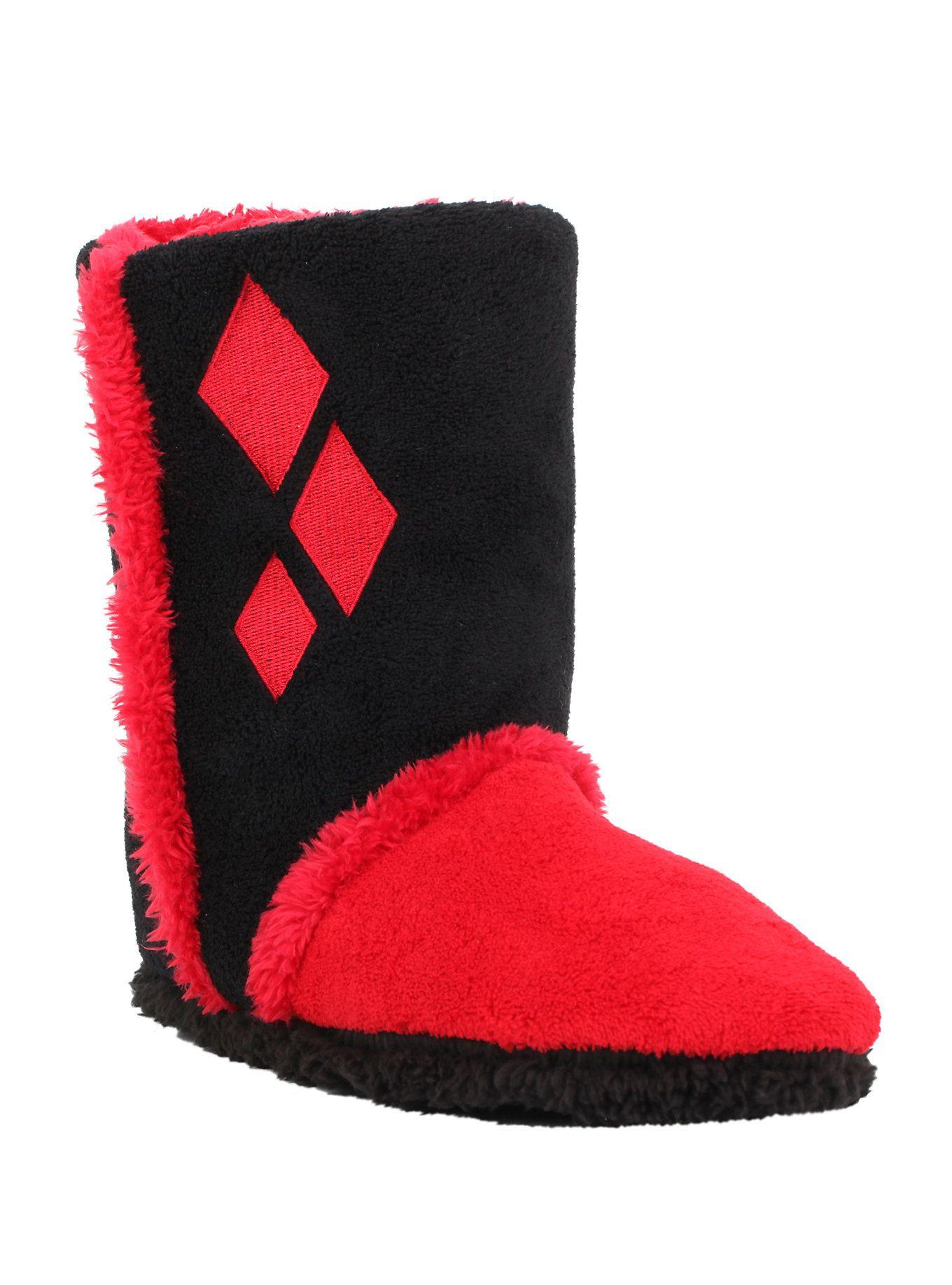 f6fe4c258bcc DC Comics Harley Quinn Slipper Boots in 2019