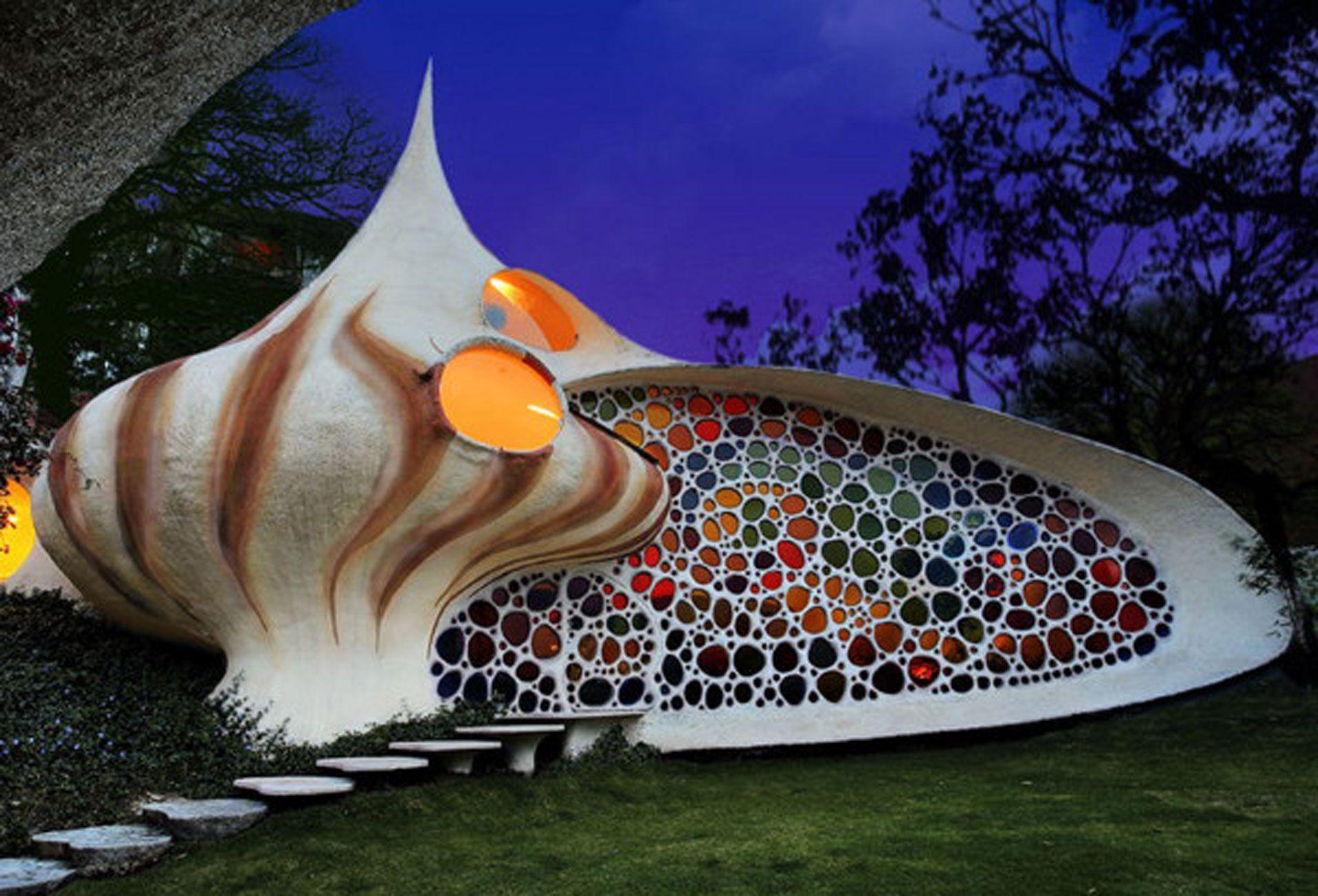 shell shaped house unique home design from arquitecturaorganica - Unique Home Design