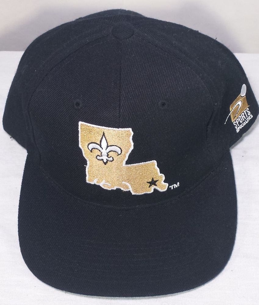 Vintage New Orleans Saints NFL Wool Sports Specialties Black Snapback Hat   SportsSpecialties  Snapback f6c5a884a