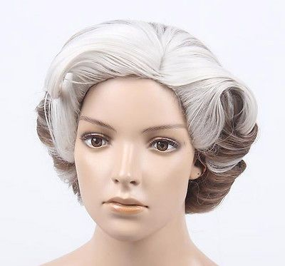 Wigs and Facial Hair 155350  Deluxe Mrs Doubtfire Replica Old Lady Grey  Blended Costume Wig Halloween -  BUY IT NOW ONLY   59.99 on eBay! 35d2ab3482