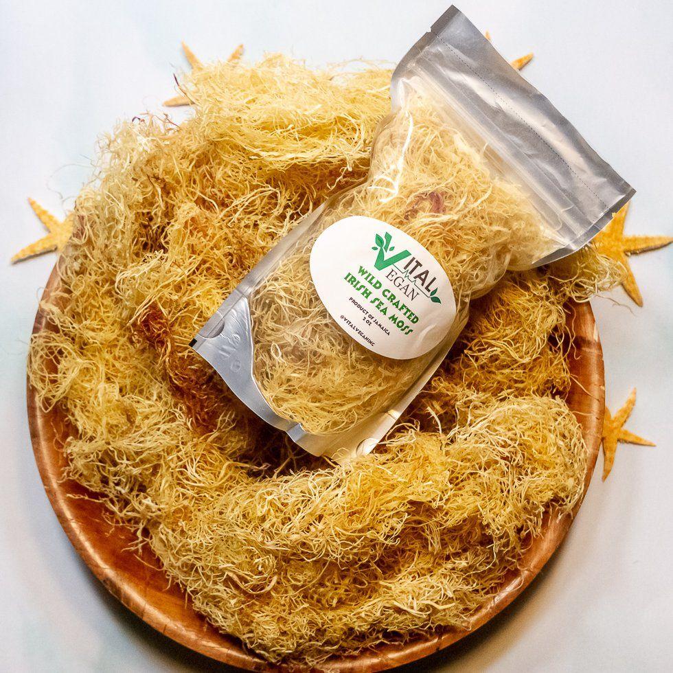 Wild Crafted Jamaican Irish Sea Moss Vital Vegan Inc Sea Moss Irish Sea Organic Seasoning