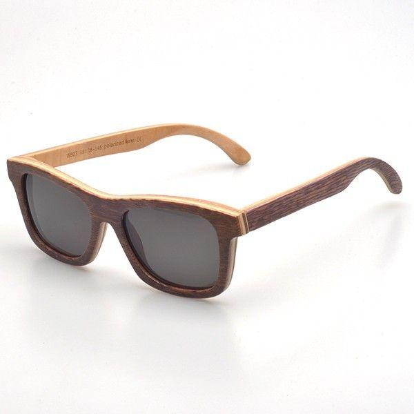 #lunettes de soleil #vintage #marron et bicolore ! On craque tous pour la #mode et les #tendances ! à voir sur http://www.lunettesenbois.com