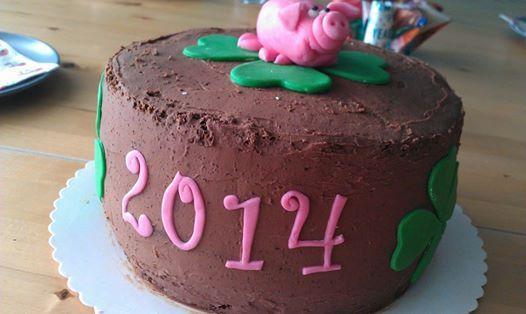 Frohes neues Jahr 2014 :-) Torte by: http://www.candybar-nrw.de/