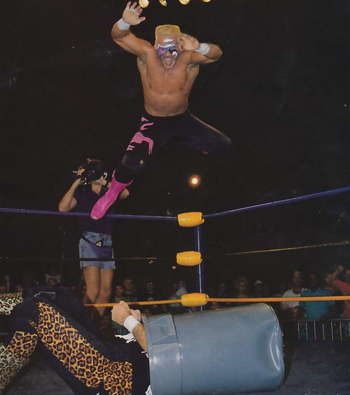 Off The Top Rope Cactus Jack Vs Sting Wrestling Superstars Sting Wcw Professional Wrestling